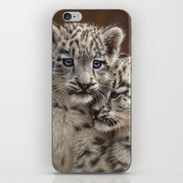 Snow Leopard Cubs - Playmates iPhone Skin