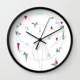 elephant. geometric Wall Clock