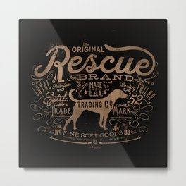Rescue Dog Trading Co. Typography Graphic Metal Print