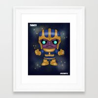 thanos Framed Art Prints featuring Thanos Pop! by SpaceWaffle