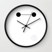 baymax Wall Clocks featuring Baymax by Adrian Mentus