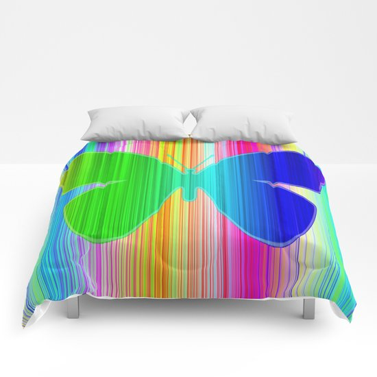 Colored butterfly Comforters