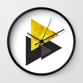 Metal triangle abstract - Metal sign - The Five Elements Wall Clock