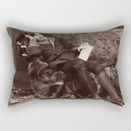 Oscar Wilde Lounging Portrait Rectangular Pillow