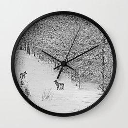 Coyotes Art Decor. Wall Clock