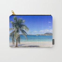 Caribbean Palm Tree Beach Secret Harbor Carry-All Pouch