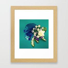 Garden Circle - Jade Framed Art Print