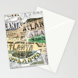 Atlanta map Stationery Cards