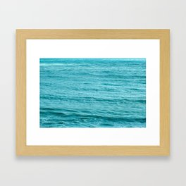 Blue Smooth Water Framed Art Print