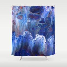 Blue Surf Lava Flow Cells Shower Curtain