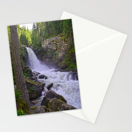 Summer Snow Melt - Waterfall & Forest Stationery Cards