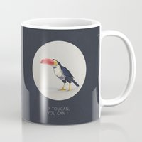 toucan Mugs featuring TOUCAN by Dinosaur Design