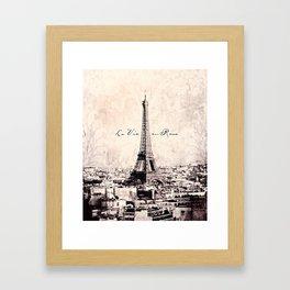 la Vie en Rose vintage Framed Art Print
