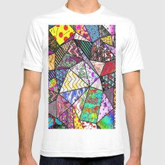 Triangler shaped mix up  Mens Fitted Tee MEDIUM White