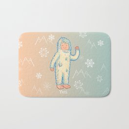 Yeti - Cute Cryptid Bath Mat