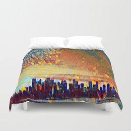 Sunrise Cityscape Duvet Cover