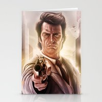 clint eastwood Stationery Cards featuring Clint Eastwood by Jose Manuel Serrano
