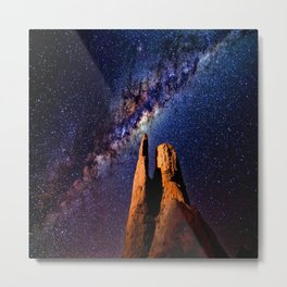 Colorful Milky Way Mountain Metal Print