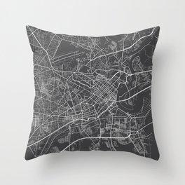 Ho Chi Minh City Map, Vietnam- Gray Throw Pillow