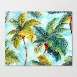 Palm Tree Allover Canvas Print