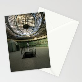 Art Deco Control Room inside of an abandoned power station Stationery Cards