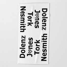 Dolenz Jones Tork Nesmith Beach Towel
