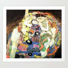 Gustav Klimt The Maiden Kunstdrucke