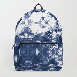 Shibori Tie Dye 4 Indigo Blue Backpack