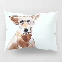 A Mutt in Blue Dog Portrait Pillow Sham