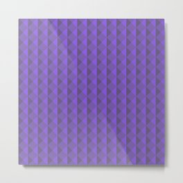 Violet abstract geometric pattern. Pyramid. Rhombuses and triangles. Metal Print