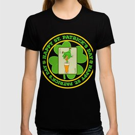 """Guys! Have This St. Patrick's Tee Saying """"Happy St. Patrick's Day"""" T-shirt DesignFour-Cleaf Clover T-shirt"""