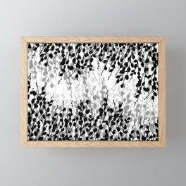 Elegant Pussywillow | Black • White • Gray Framed Mini Art Print