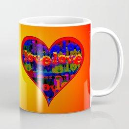 Love Love Heart Sunfire Coffee Mug