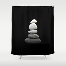 balance pebble art Shower Curtain