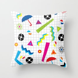 Breaking Atoms Throw Pillow