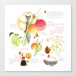 temari sushi Canvas Print