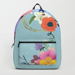 Hello Spring Bunch of Flowers Backpack
