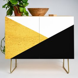 Gold & Black Geometry Credenza