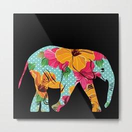 Beautiful pattern with elephant. Metal Print
