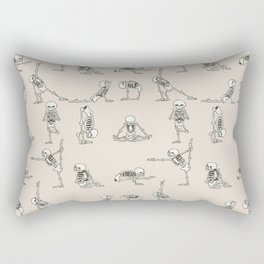 Skeleton Yoga Rectangular Pillow