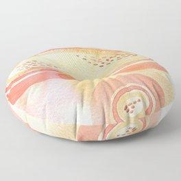 Pink Watercolor Microcosm Floor Pillow