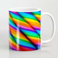 candy Mugs featuring Rainbow Candy : Candy Canes by WhimsyRomance&Fun