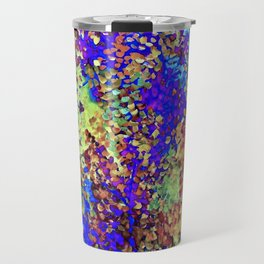 Blue, Green, and Rust Leaves in Flight Travel Mug