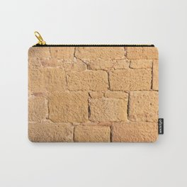 Close up view of an ancient smooth textured brick wall Carry-All Pouch