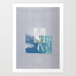 Portland Vase in Blue Art Print