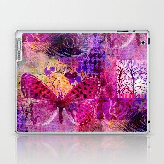 Butterflies Dream In Pink Laptop & iPad Skin