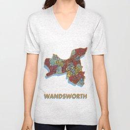 Wandsworth - London Borough - Colour Unisex V-Neck
