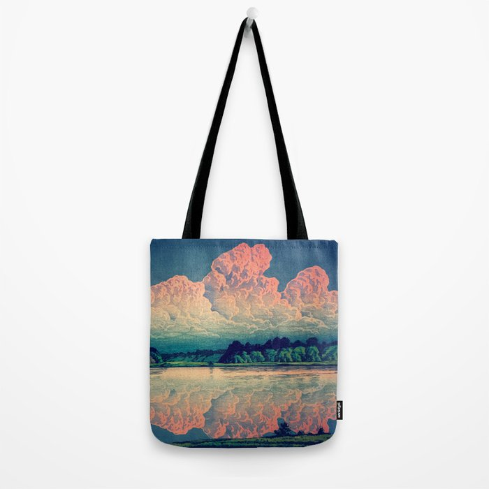 Admiring the Clouds in Kono Tote Bag