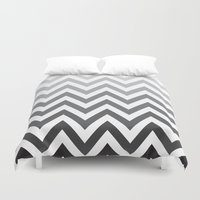 tina crespo Duvet Covers featuring TINA CHEVRON 4 by JUNE blossom