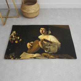 """Michelangelo Merisi da Caravaggio """"The Lute Player"""" Rug"""